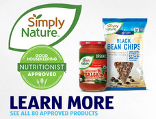 Our Simply Nature brand has 80 Good Housekeeping Nutritionist Approved products. Learn more.