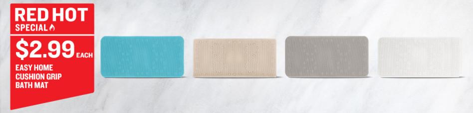 Easy Home Cushion Grip Bath Mat