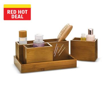 Easy Home Wooden Vanity Organizer Set View 1
