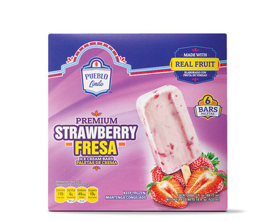 Pueblo Lindo Premium Strawberry Ice Cream Bars