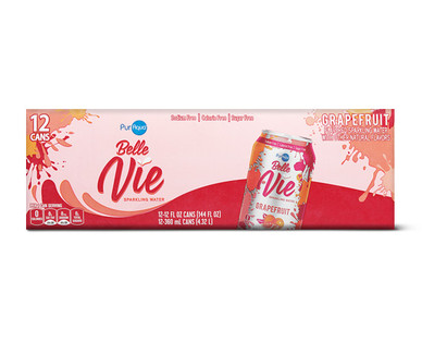 PurAqua Belle Vie Sparkling Water 12 Pack Grapefruit