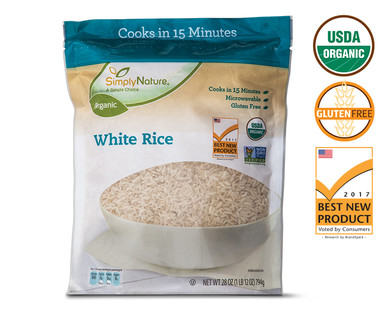 SimplyNature Organic Quick Cook White Rice