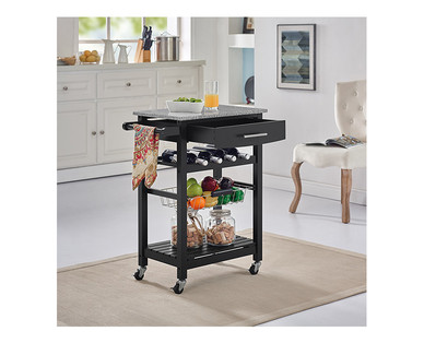 SOHL Furniture Kitchen Island with Granite Top View 5