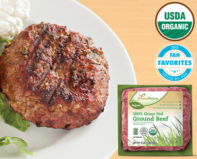 Simply Nature Organic 100% Grass Fed Ground Beef