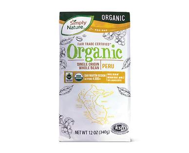 Simply Nature Organic Single Origin Whole Bean Peru Coffee