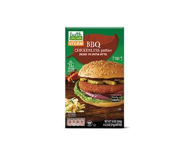Earth Grown Buffalo or BBQ Chickenless Patties View 2