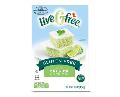 LiveGfree Gluten Free Key Lime Cake Mix
