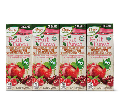 Simply Nature Fruit Punch Organic Juice Boxes