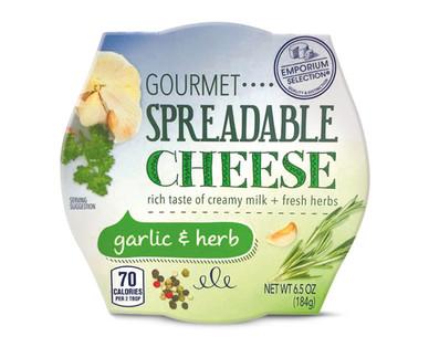 Emporium Selection Garlic & Herb Gourmet Spreadable Cheese