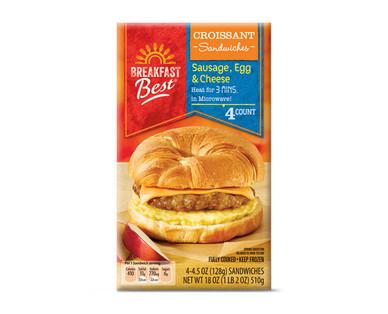 Breakfast Best Sausage, Egg, & Cheese Croissant Breakfast Sandwich