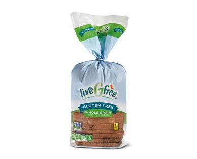 liveGfree Gluten Free Whole Grain Wide Pan Bread