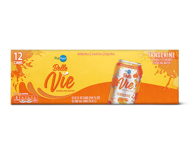 PurAqua Belle Vie Sparkling Water 12 Pack Tangerine
