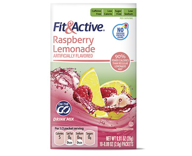 Fit and Active Raspberry Lemonade Drink Mix Sticks
