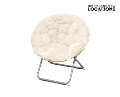 SOHL Furniture Faux Fur, Quilted or Mongolian Saucer Chair View 2