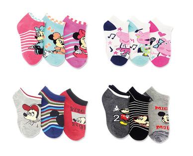 Licensed Toddler and Children's 3-Pack Socks View 2