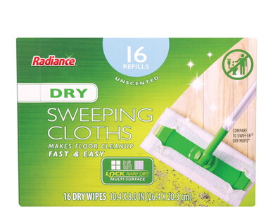 Radiance Unscented Dry Floor Wipes