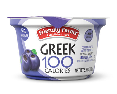 Friendly Farms Nonfat Blended Blueberry Yogurt