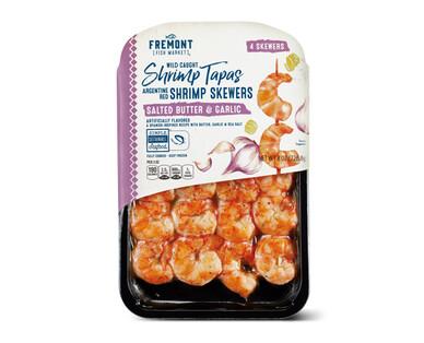 Fremont Fish Market Salted Butter & Garlic Wild Argentine Shrimp Skewers