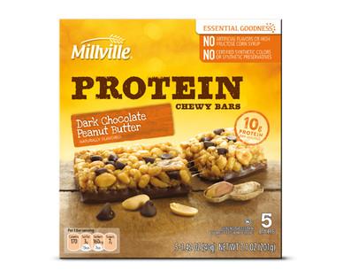 Millville Peanut Butter Dark Chocolate Protein Chewy Bar