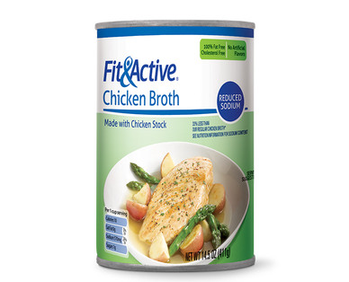 Fit and Active Reduced Sodium Chicken Broth 14 ounce