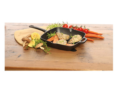 Crofton Pre-Seasoned Cast Iron Grill or Fry Pan View 3