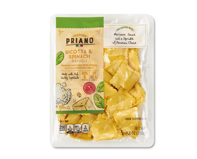 Priano Filled Ricotta and Spinach Ravioli