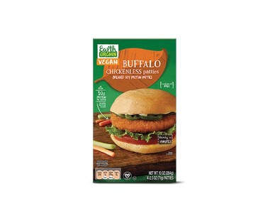 Earth Grown Buffalo or BBQ Chickenless Patties View 1