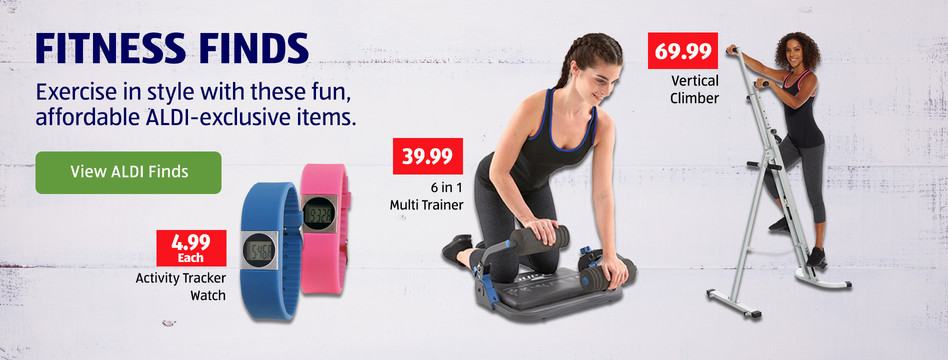 Exercise in style with these fun, affordable ALDI-exclusive items. View ALDI Finds.