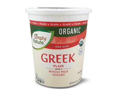 Simply Nature Organic Greek Plain Whole Milk Yogurt