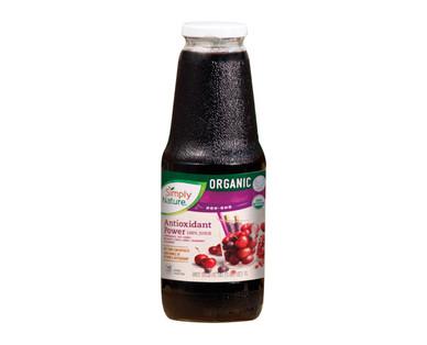 Simply Nature Organic 100% Juice Antioxidant Power