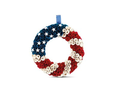 Huntington Home 4th of July Decorative Wood Curl Wreath View 1