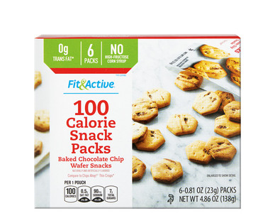 Fit & Active® 100 Calorie Chocolate Chip Snack Packs