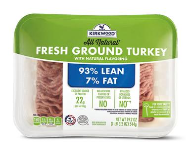 Kirkwood 93% Lean Fresh Ground Turkey