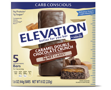 Elevation Caramel Double Chocolate Advance Bars