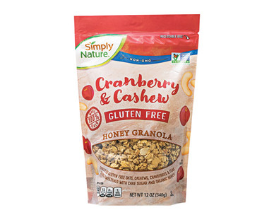 Simply Nature Gluten Free Cranberry Cashew Honey Granola