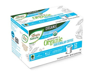 Simply Nature Organic Coffee Cups Light Guatemalan