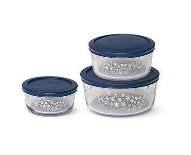 Crofton 6-Piece Holiday Glass Storage Bowls View 1