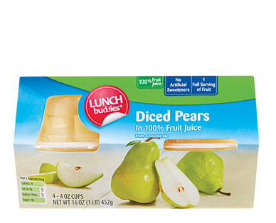 Lunch Buddies Diced Pears in Fruit Juice