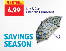 Red Hot Deal: Lily & Dan Children's Umbrella. View Details.