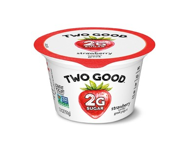 Dannon Two Good Vanilla or Strawberry Lowfat Greek Yogurt View 2