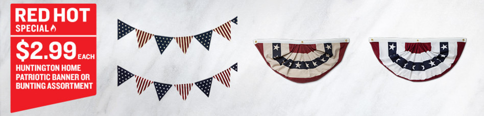 Huntington Home Patriotic Banner or Bunting Assortment