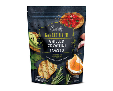Specially Selected Garlic Herb Grilled Crostini Toasts