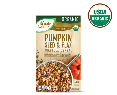 Simply Nature Organic Pumpkin and Flax Granola Cereal
