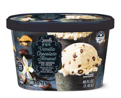 Specially Selected Vanilla Chocolate Almond Winter Seasonal Ice Cream