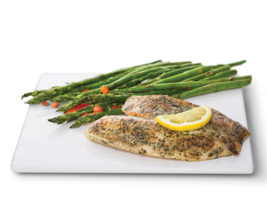 Fresh Tilapia with Garlic Herb