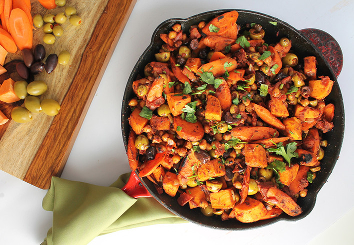 Spiced Sweet Potato and Carrots