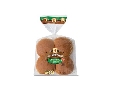 L'oven Fresh 100% Whole Wheat Hamburger or Hot Dog Buns View 1