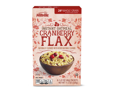 Millville Cranberry Flax Instant Oatmeal