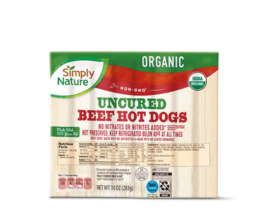 Simply Nature Organic Uncured Beef Hot Dogs