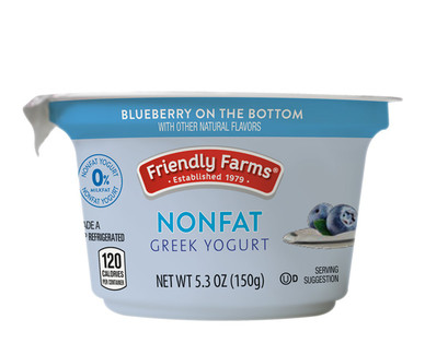 Friendly Farms Blueberry Nonfat Greek Yogurt